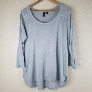 Cynthia Rowley HiLow Gray Casual Blouse Size Large